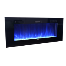 SCW-002 60-Inch Built-in and Wall mounted Electric Fireplace